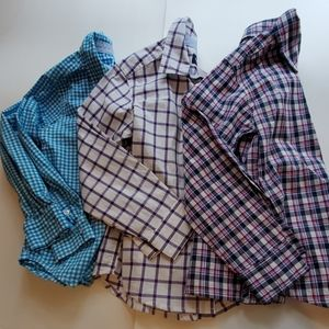 3 Carter's Button Down Plaid Gingham Shirts 5T